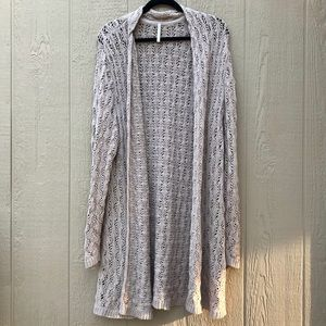 [Leo & Nicole] Tan Long Knit Cardigan Sweater XXL